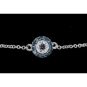 Diamond Bracelet Ceylon Sapphire 2 Carats Women